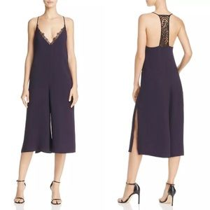 French Connection Esther Lace Jumpsuit w/Pockets